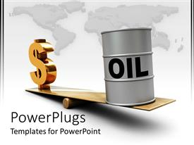 PowerPlugs: PowerPoint template with the increase in the oil prices gradually