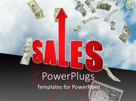 PowerPlugs: PowerPoint template with increase in sales sky is the limit money income profit business