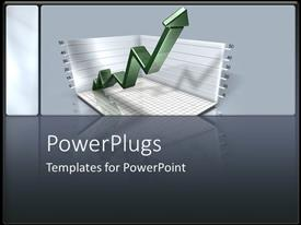 PowerPlugs: PowerPoint template with increasing charts sales marketing business model grey background