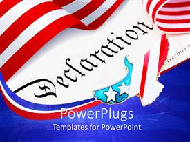 PowerPlugs: PowerPoint template with the independence day depiction of USA