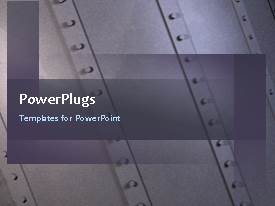 PowerPlugs: PowerPoint template with the industrial background with a number of words