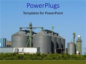 PowerPoint template displaying industrial plant, factory, manufacturing, industry, commercial real estate