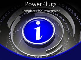 PowerPlugs: PowerPoint template with the information sign with a number of circles
