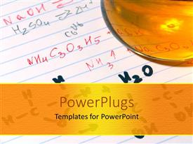 PowerPlugs: PowerPoint template with ink pen writing E=mc2, theory of relativity, Einstein, science, mass, energy