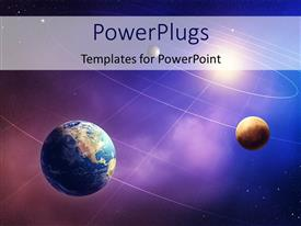PowerPlugs: PowerPoint template with inner four solar system planets furnished by NASA