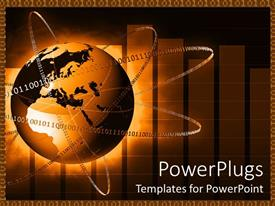 PowerPlugs: PowerPoint template with internet concept with binary code orbiting Earth globe world, IT, networking