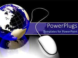 PowerPlugs: PowerPoint template with internet technology mouse world wide web globalization communication