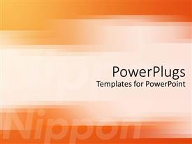 PowerPoint template displaying japanese technology motif with orange and yellow ombre background