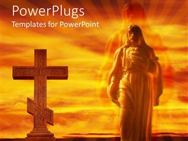 PowerPlugs: PowerPoint template with the Jesus and the holy cross