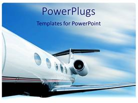 PowerPlugs: PowerPoint template with jet plane in flight with motion blur