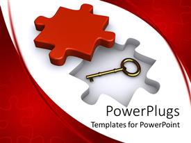 PowerPlugs: PowerPoint template with a jigsaw puzzle along with a key