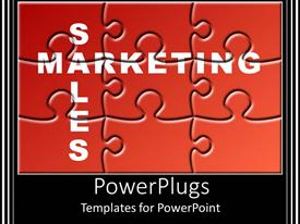 PowerPlugs: PowerPoint template with a jigsaw puzzle with black background