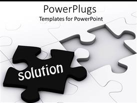 PowerPlugs: PowerPoint template with a jigsaw puzzle with the missing part being present