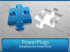 PowerPlugs: PowerPoint template with jigsaw puzzle with missing piece placed on top