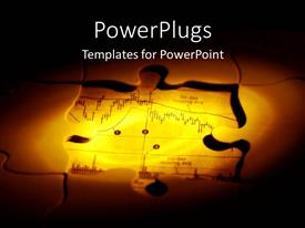PowerPlugs: PowerPoint template with jigsaw puzzle pieces made out of foreign exchange chart