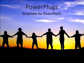 PowerPlugs: PowerPoint template with joining hands people come together teamwork diversity global communication