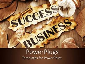 PowerPlugs: PowerPoint template with a key, globe and various leaves