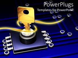 PowerPlugs: PowerPoint template with a key with a number of lines in the background