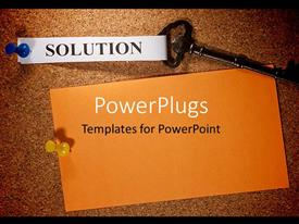 PowerPlugs: PowerPoint template with a beautiful background with a key