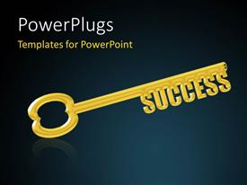 I love this slide set enhanced with key to Success, a Gold Key with the Word Success