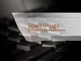 PowerPlugs: PowerPoint template with a keyboard in the background with place for text
