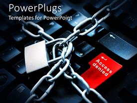 PowerPlugs: PowerPoint template with the keyboard being locked properly in order to deny the access