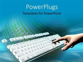 PowerPlugs: PowerPoint template with a keyboard with a lot of binary numbers around