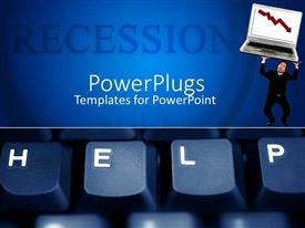 PowerPlugs: PowerPoint template with the keyboard showing the word help