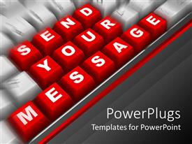 PowerPlugs: PowerPoint template with the keyboard showing the words send your message