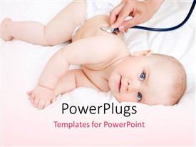PowerPlugs: PowerPoint template with a kid being checked up by a doctor