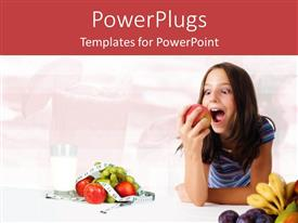 PowerPlugs: PowerPoint template with a kid being happy while holding an apple