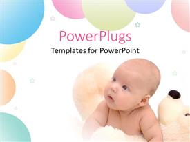 PowerPlugs: PowerPoint template with a kid looking towards the balloons and the stars
