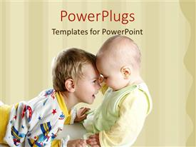 PowerPlugs: PowerPoint template with a kid playing with his younger brother