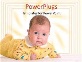 PowerPlugs: PowerPoint template with a kid with yellowish background and place for text