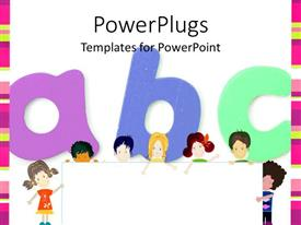 PowerPoint template displaying kids Education