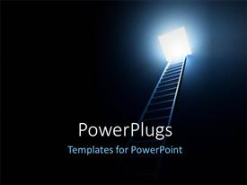 PowerPlugs: PowerPoint template with a ladder with a light at the top of it
