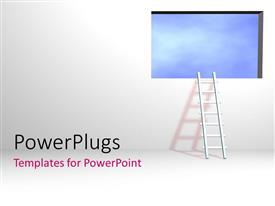 PowerPlugs: PowerPoint template with a ladder and a window with a white background
