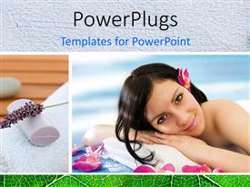PowerPlugs: PowerPoint template with a lady lying down for massage
