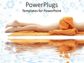 PowerPlugs: PowerPoint template with a lady with naked legs along with water