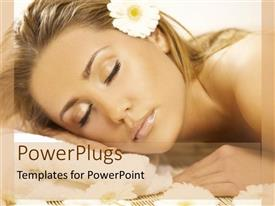 PowerPlugs: PowerPoint template with a lady sleeping peacefully with flower in her hair