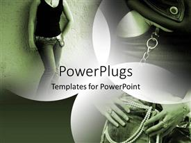 PowerPlugs: PowerPoint template with a lady wearing a shirt and a jeans
