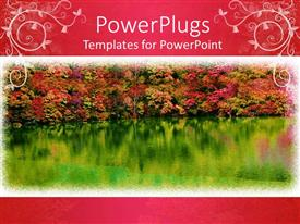 PowerPlugs: PowerPoint template with a lake with trees in the background