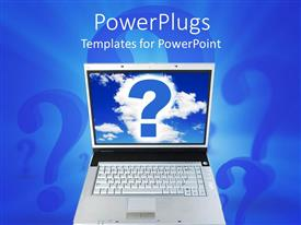 PowerPlugs: PowerPoint template with a laptop with a question mark on the screen