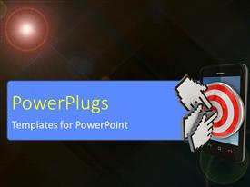 PowerPlugs: PowerPoint template with large cursors targetting at modern cellphone with lens flare