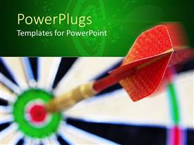 PowerPlugs: PowerPoint template with a large dart in the middle of blurry target