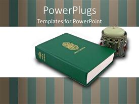 PowerPlugs: PowerPoint template with a large Qumran with a candle beside it