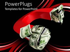 PowerPlugs: PowerPoint template with large red U shaped magnet with money on both ends