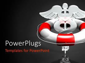 PowerPlugs: PowerPoint template with a medical sign with a greyish background