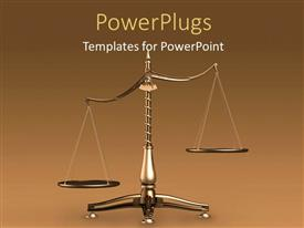 PowerPlugs: PowerPoint template with a large scale with one side lower than the other