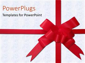 PowerPlugs: PowerPoint template with a large well tied ribbon on a white tile